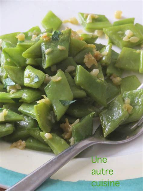 cuisiner les haricots plats haricots plats au beurre et au persil le sachet d 233 pices cuisine