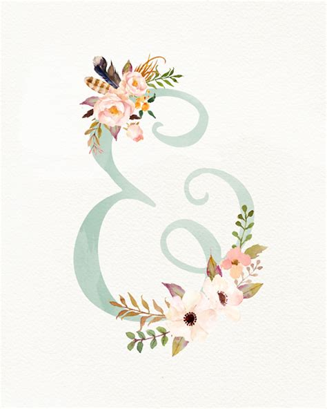 printable letters with flowers floral ampersand christie lacy