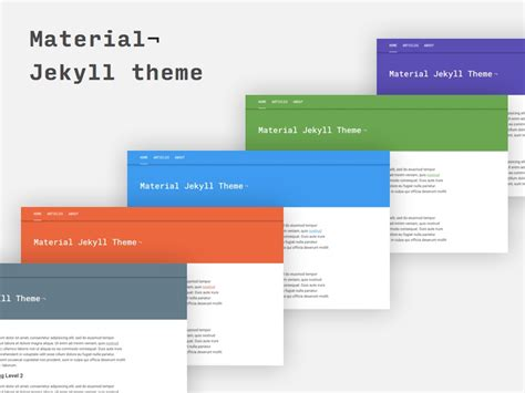 jekyll themes for github pages github alexcarpenter material jekyll theme material