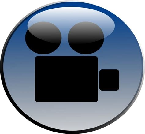 format video clip video camera glossy icon clip art free vector in open