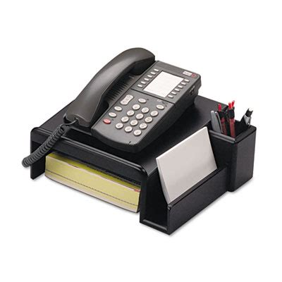 desk phone stand organizer eldon office organizer phone bk each model 62538