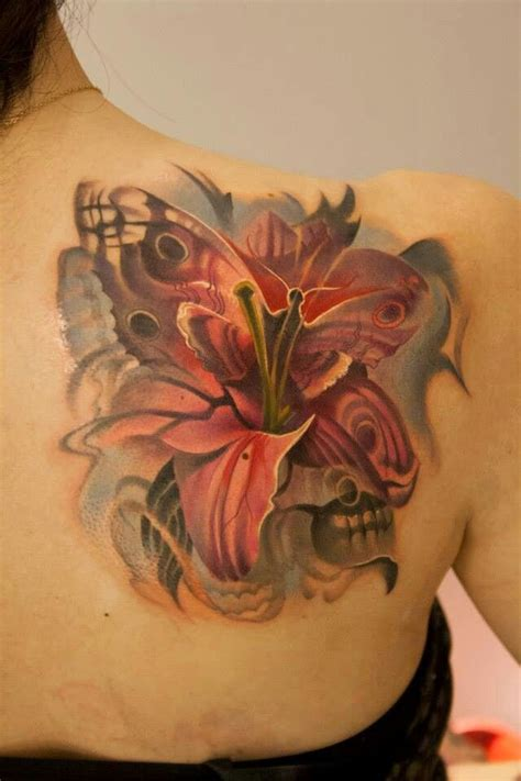 tattoo butterfly with flowers butterfly flower tattoo awesome work tattoo pinterest