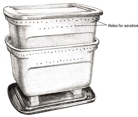how to build your own worm composter dummies