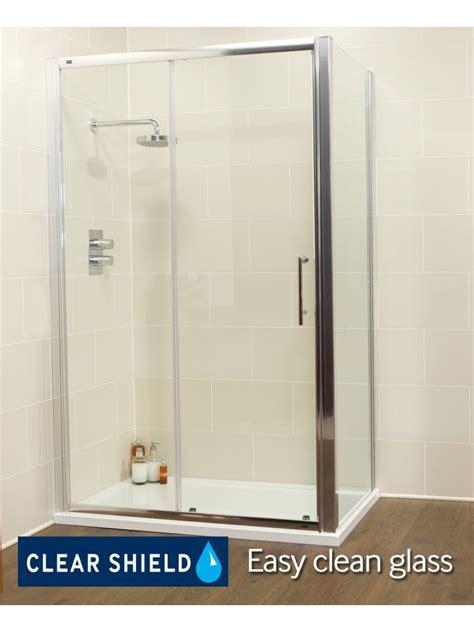1100 Sliding Shower Door Shower Enclosures Trays Kyra Range 1100 X 760 Sliding Shower Door