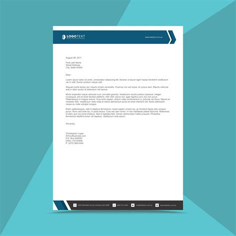 professional business letterhead design template