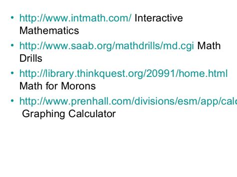 utk math tutorial center interactive math and science websites vce cohorts