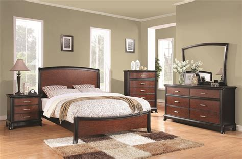 two tone bedroom furniture josephina 6 piece bedroom set in two tone finish by