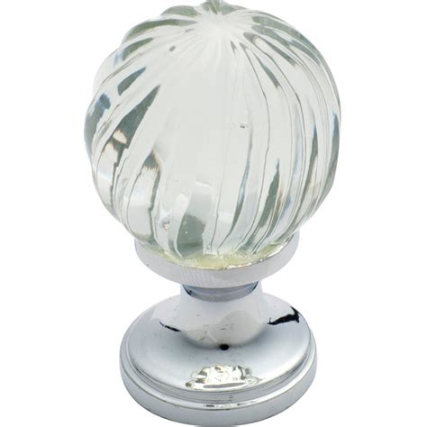 3031 cupboard knob glass fluted swirl cp
