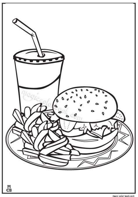 where to find food coloring fast food free coloring pages