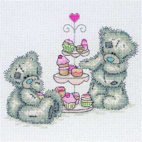 Cross Stitch Kit 80713 tatty ted cupcakes kit by anchor only 163 18 25 past impressions me you point