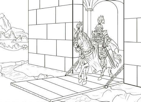 medieval horse coloring page knights out of the gate castles and knights pinterest