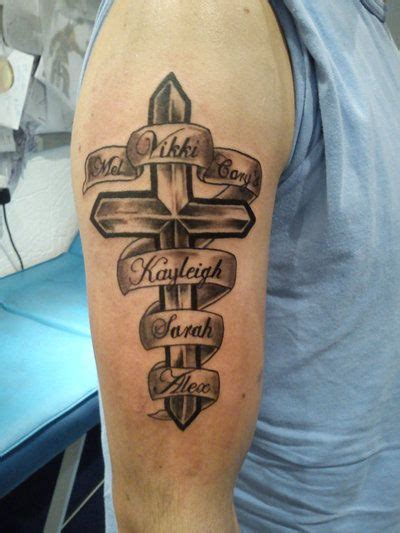 girlfriend name tattoo ideas cross designs with names cross and names