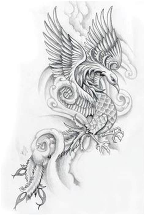 phoenix tattoo realistic phoenix rising original art sle flower original