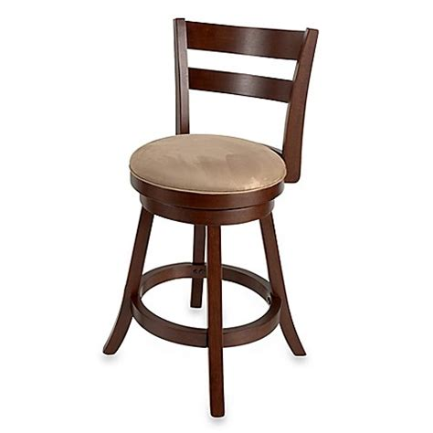 Bar Stools Bed Bath And Beyond by Sawyer Swivel Wood Bar Stool Bed Bath Beyond