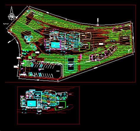 gazebo dwg modern tourist complex for the family 2d dwg design block