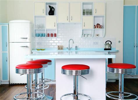 retro style kitchen cabinets red kitchen decor for modern and retro kitchen design