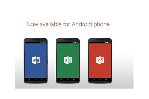 ms office for android phone free download