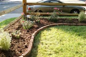 corner lot landscaping ideas and this is how it looked