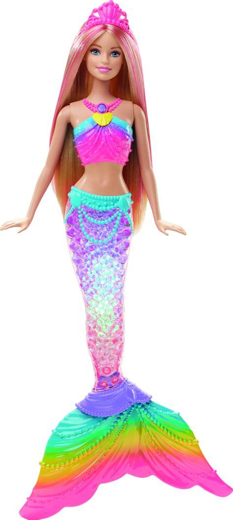 barbie rainbow lights mermaid doll barbie rainbow lights mermaid doll leker cdon com