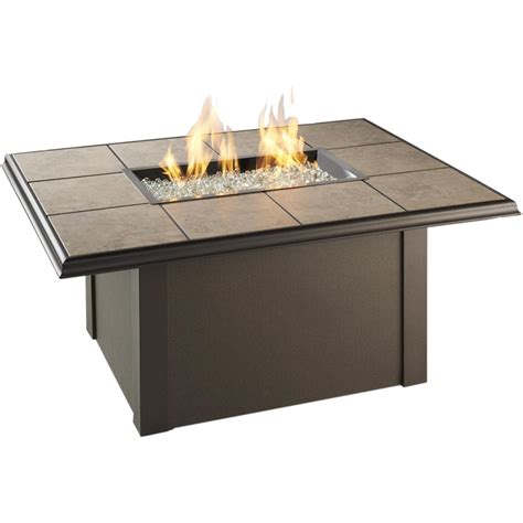Napa Valley 48x36 Inch Propane Fire Pit Table By Outdoor Propane Patio Table