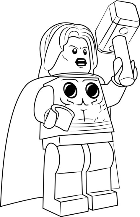 thor lego coloring page  printable coloring pages