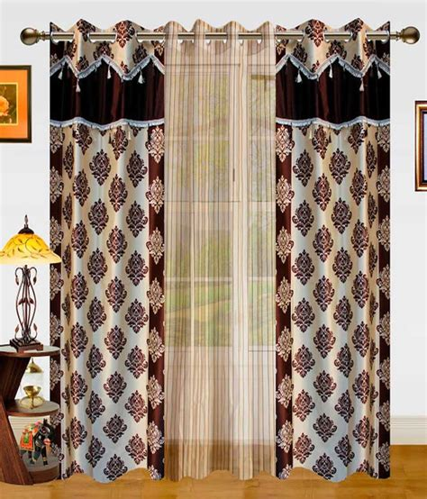 ethnic curtains dekor world set of 3 window sheer curtains curtains ethnic