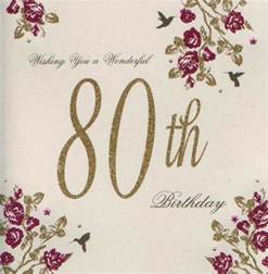 80th birthday quotes for cards quotesgram