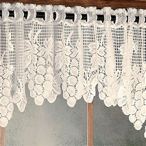 Vineyard Curtains vineyard lace tailored valance 54 x 12 touch of class
