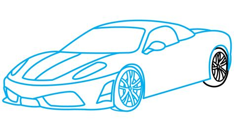 car drawing how to draw ferrari 360 a sports car easy step by step