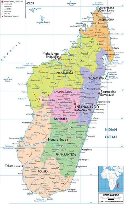 madagascar map political map of madagascar ezilon maps