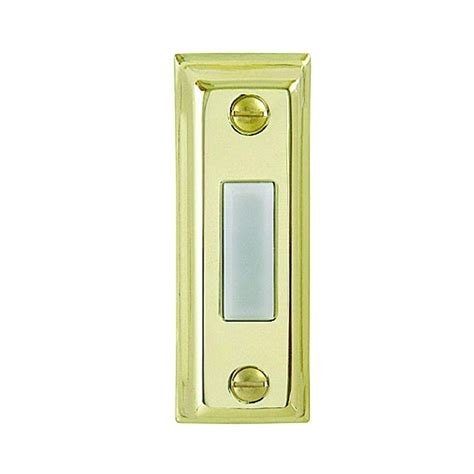 wired doorbell button with light hton bay wired lighted door bell push button