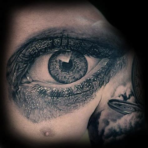 tattoo chest eyes 50 realistic eye tattoo designs for men visionary ink ideas