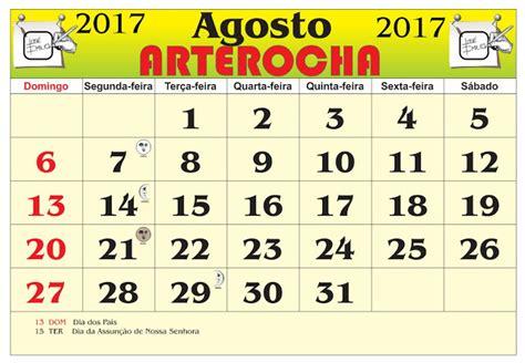 Calendario Lunare Agosto 2017 Arterocha Calend 193 Mes De Agosto 2017