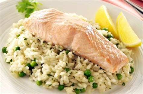 salmon and risotto salmon risotto recipe modern magazin