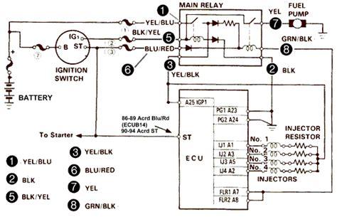 94 honda civic lx relay wiring diagram wiring