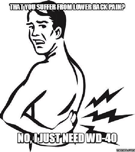 Back Pain Meme - 55 best funny back pain memes images on pinterest