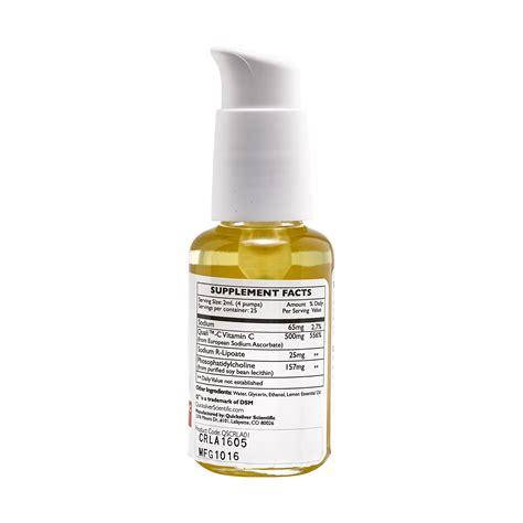 Vitaminc Dosage For Nicotine Detox by Quicksilver Scientific Vitamin C With R Lipoic Acid