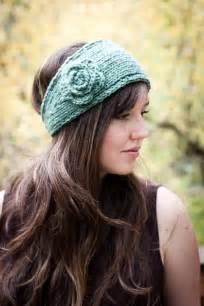 crochet flower headband pattern flower headband earwarmer knit and crochet pattern