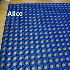 antibacterial floor mat china drainage anti slip rubber mat outdoor antibacterial