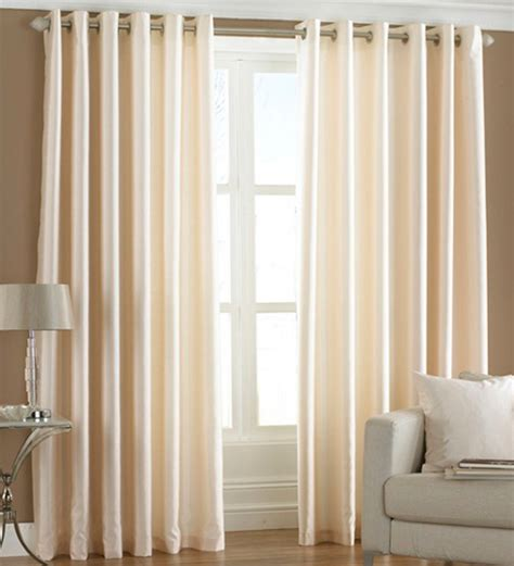 curtains for 9 ft wide window pindia solid cream window curtains set of 2 5 ft by