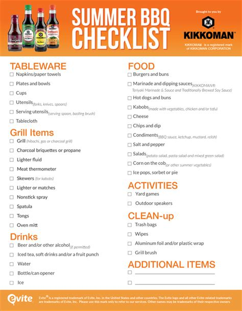 theme item list plan the easiest party ever with our summer bbq checklist
