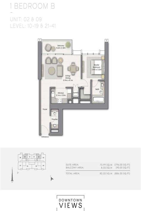 downton floor plan emaar downtown views floor plan