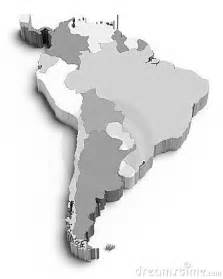 3d south america white royalty free stock photos image 24097228