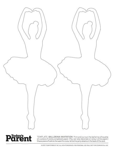 Pin The Tutu On The Ballerina Template by Ballerina Template Ballerina Conversation