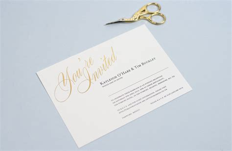 foil wedding invitations uk wedding invitation wording how to get it right foil