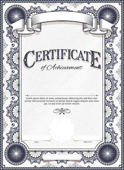illustrator certificate template certificate template stock vector 169 andrejco 56534675