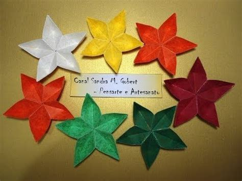 Flores Origami - flor de origami easy to follow tutorial
