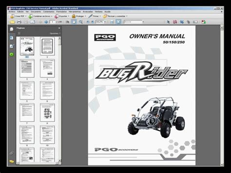 Pgo Bugrider 250 Buggy Service Manual Owners Manual
