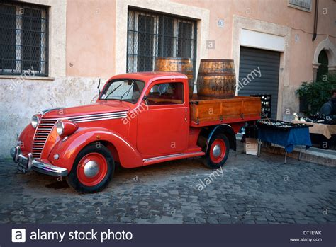 fiat truck vintage fiat truck parked in the trastevere area of rome
