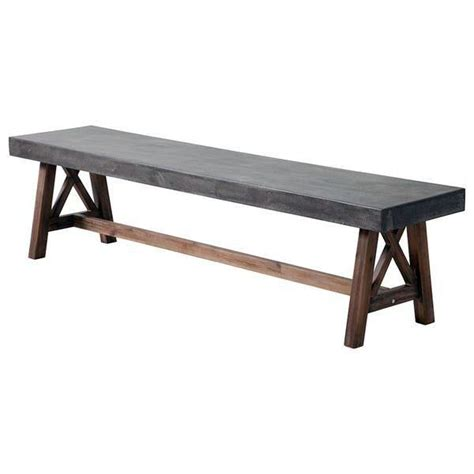 industrial benches for sitting industrial outdoor bench cement wood set of 2 scenario home